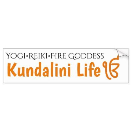 Kundalini  Reiki Fire Goddess Bumper Sticker - craft supplies diy custom design supply special