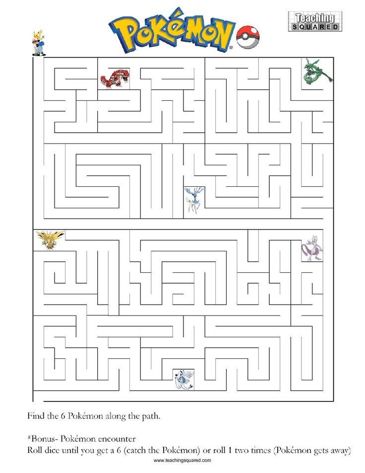 Pokemon Maze A Teaching Squared