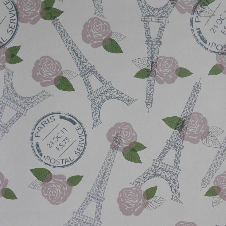 Papel de parede países França Torre Eiffel e rosas 012