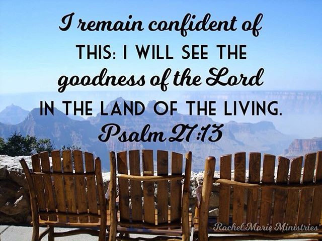 ... the goodness of the Lord in the land of the living. - Psalm 27:13 NIV