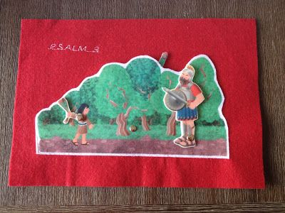 Faith and Felt Obsession: Psalm 9 - David and Unnamed Goliath Quiet Book Pag...