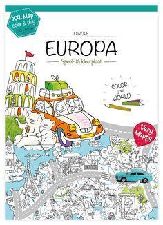 Veranderen jouw kinderen na drie dagen vakantie ook altijd in lamlendige monsters die alleen nog maar 'Ik verveeeeel me..' kunnen uitbrengen? Very Mappy XL Europa to the rescue!
