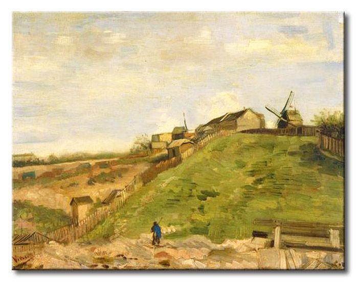MU_VG2032 t_Van Gogh _ The hill of Montmartre with stone quarry / Cuadro Paisaje, la colina de Montmartre con Cantera