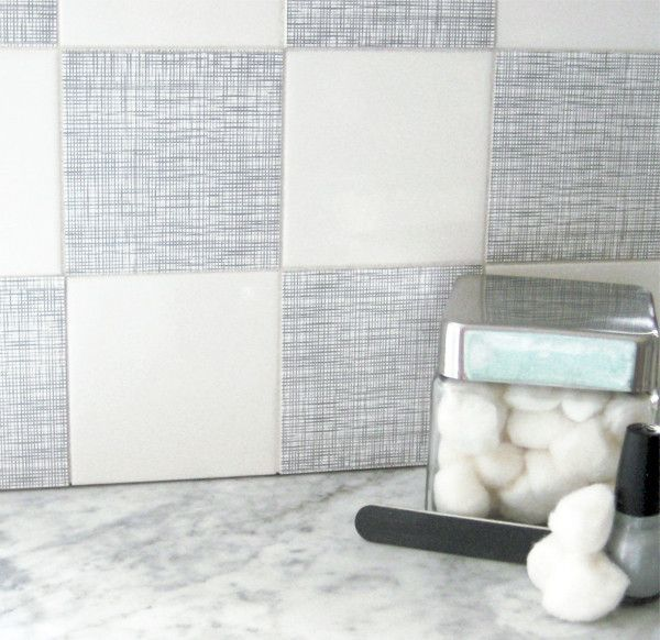 Mibo Tile Tattoos In Platinum Linen   Cover Up Those Ugly Fruit Tiles!