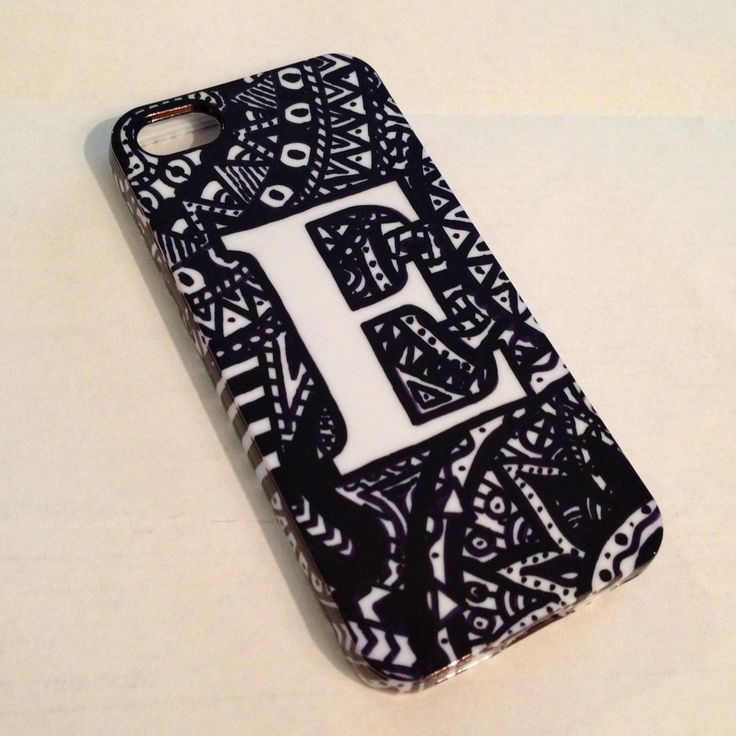Sharpie art! DIY phone case. #zentangles Cell Phones & Accessories - Cell Phone, Cases & Covers - http://amzn.to/2jXZVL6
