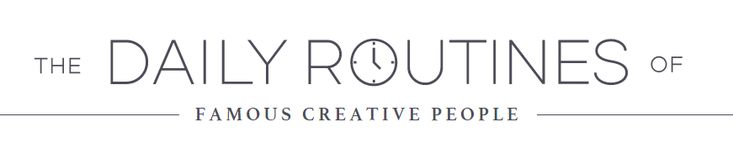 Infografía: Rutinas diarias de personas creativas famosas