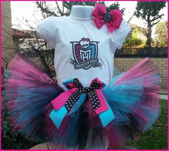 Monster High Inspired Tutu Outfit,monster high birthday, tutu sets, monster high tutu