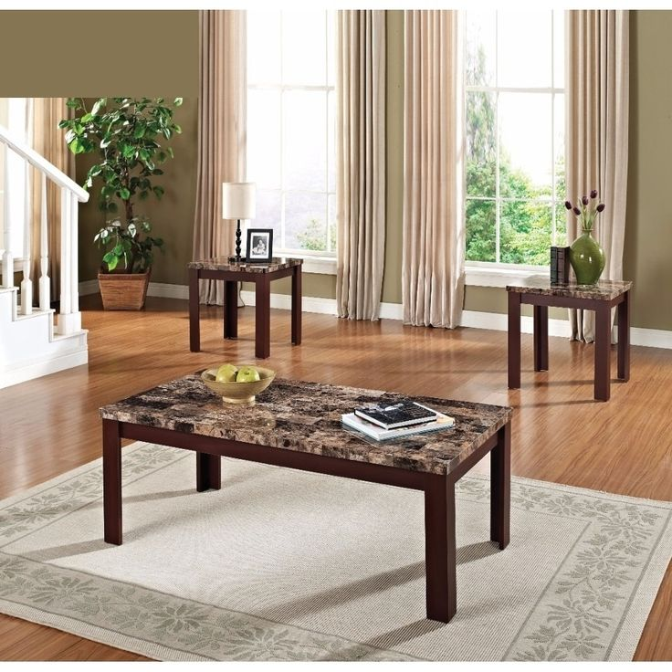 cherry wood end tables living room. Benzara Finely Brown Faux Marble Coffee and End Tables  Set of 3 Light Best 25 Cherry end tables ideas on Pinterest wood