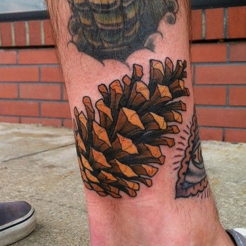 pine cone tattoo fall tattoo at black metal tattoo