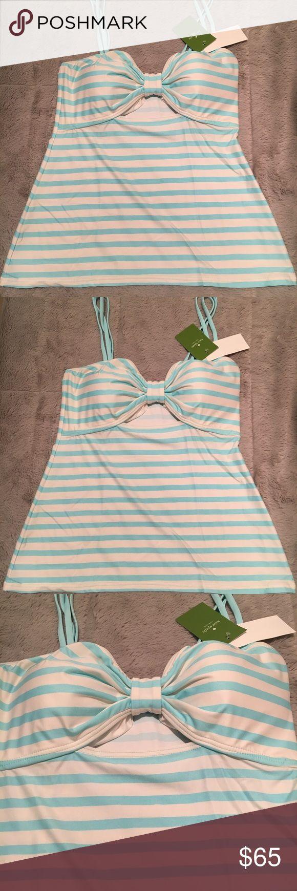 Kate Spade nahant shore peep hole tankini New with tags peep hole tankini top Color : Air ( lite blue and white striped) kate spade Swim Bikinis