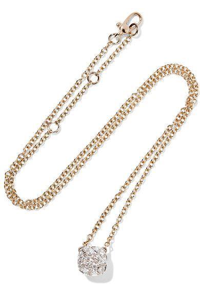 Pomellato - Nudo 18-karat Rose And White Gold Diamond Necklace - Rose gold - one size