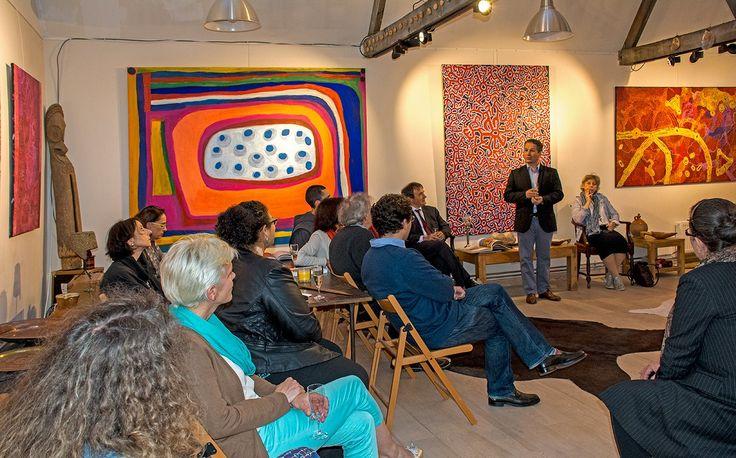 Conférence sur l'art Aborigène avec le réseau des Grandes Ecoles Françaises. Mars 2015.
