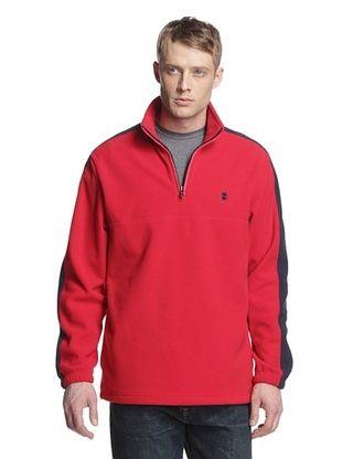 61% OFF IZOD Men's 1/4 Zip Polar Fleece Pullover (Real Red)