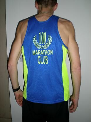 100 marathon club vest- can't imagine being in this club!!!