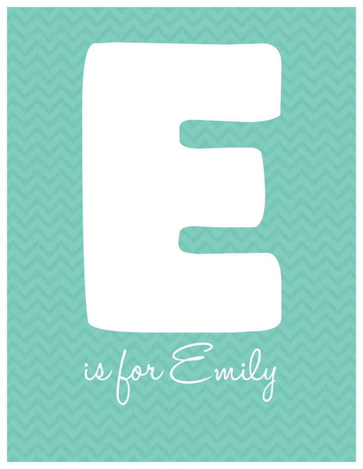 E is for Emily Baby's Name Nursery Chevron by HoneycombVisions