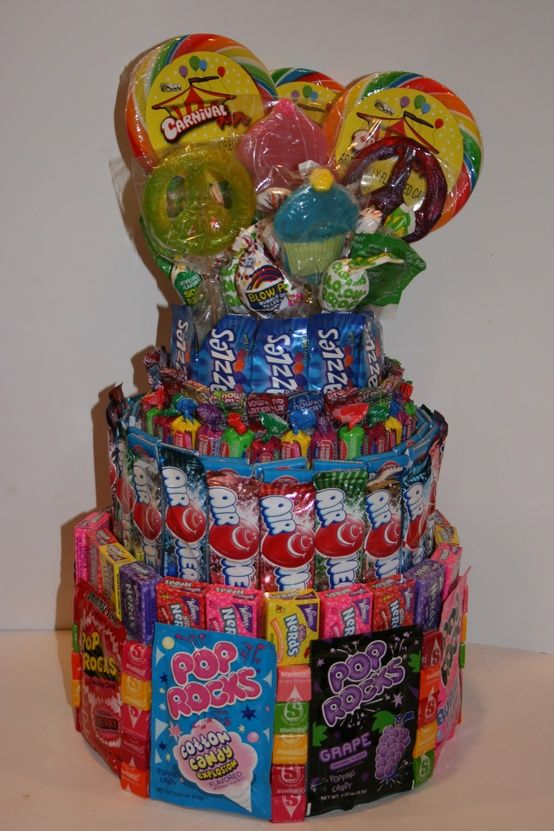 9 Fun Ideas for Candy Cakes | Candy Cake from Covered in Candy - mazelmoments.com