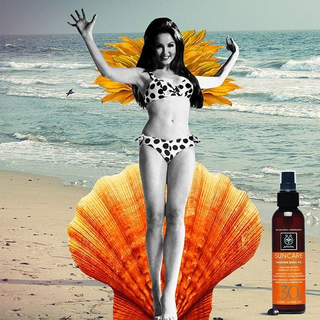 Sunscreen hair oil!