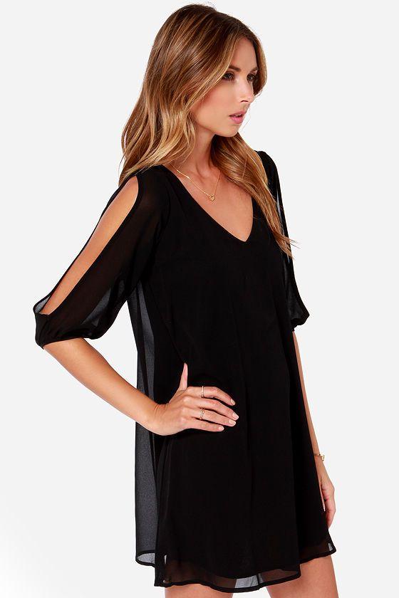 LULUS Exclusive Shifting Dears Black Long Sleeve Dress at Lulus.com!