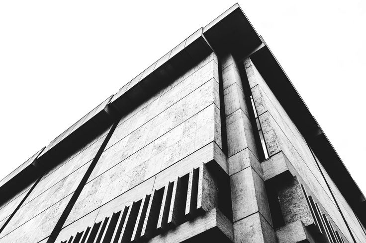 Architectural detail of the concrete exterior of the University of Texas Harry Ransom Center Austin Texas.  See more #photos at 75central.com