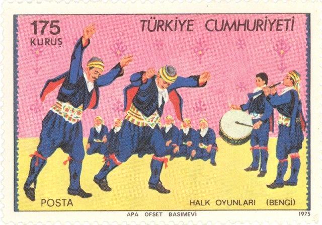 1975 Turkey - Bengi folk dance.