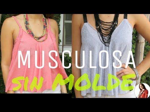 Cómo hacer una MUSCULOSA SIN MOLDE - Fabiana Marquesini - 26 - YouTube