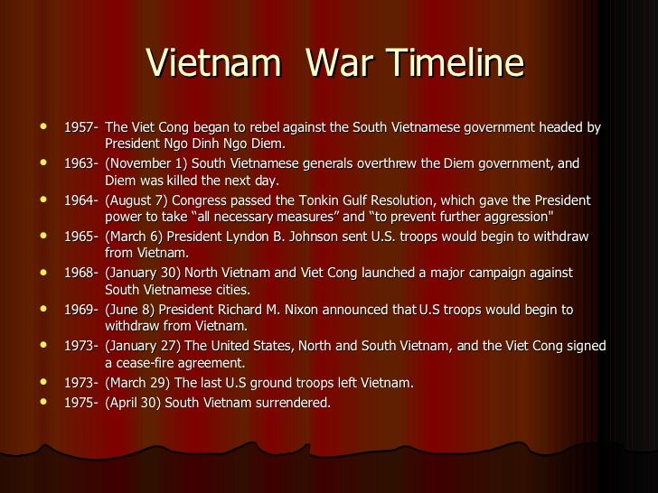a description of the vietnam war in the middle 1960s Kids learn the history of the vietnam war during the cold war a fight between  the communists of north vietnam and the us supported south.