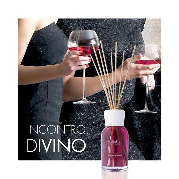 Millefiori Natural – aroma difuzér Hroznové víno a černý rybíz, 100 ml