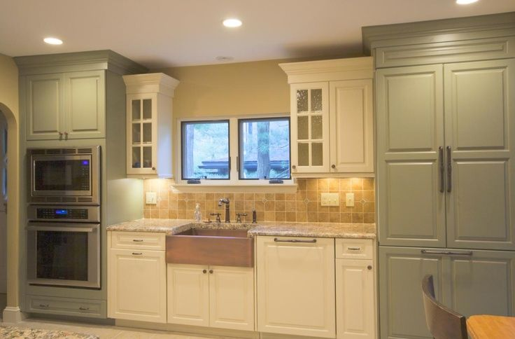 Sage Green Kitchen Cream Cabinets Ivory Kitchen With