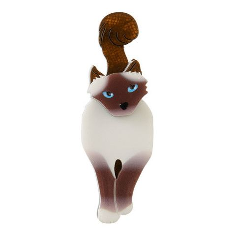 Erstwilder Limited Edition Lena Blue-Eyed Birman Brooch, $34.95 (AUD)