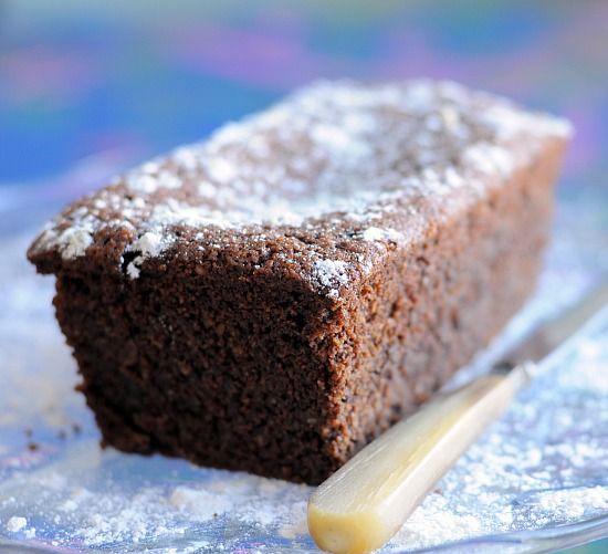 Gluten-Free Chocolate Almond Pound Cake #glutenfree