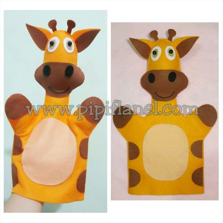 Giraffe hand puppet made by Pipi Flanel.. Wanna see our feltdolls collection? Please visit our website at www.pipiflanel.com thank you :)