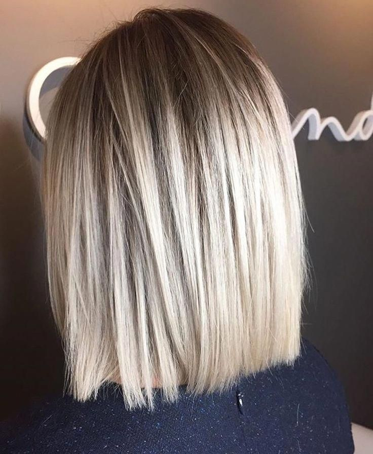 Short Hair Shoulder Length Hair Pin Straight Hair Sleek Hair Ash Blonde Tumblr Hair Tumblr G Balayage Straight Hair Hair Styles Medium Length Hair Styles