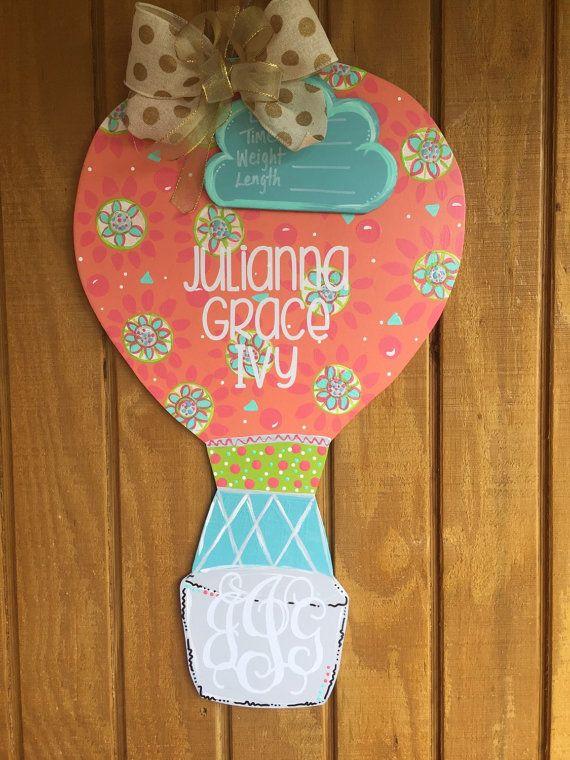 Hot Air Balloon Door Hanger by craftigirlcreations on Etsy