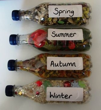 Discovery Bottles - The Four Seasons I am going to make this for the classroom!