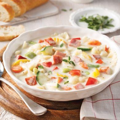 Soupe crémeuse au jambon - Soupers de semaine - Recettes 5-15 - Recettes express 5/15 - Pratico Pratique