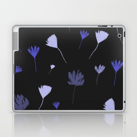 Flowers in the Night I Laptop & iPad Skin