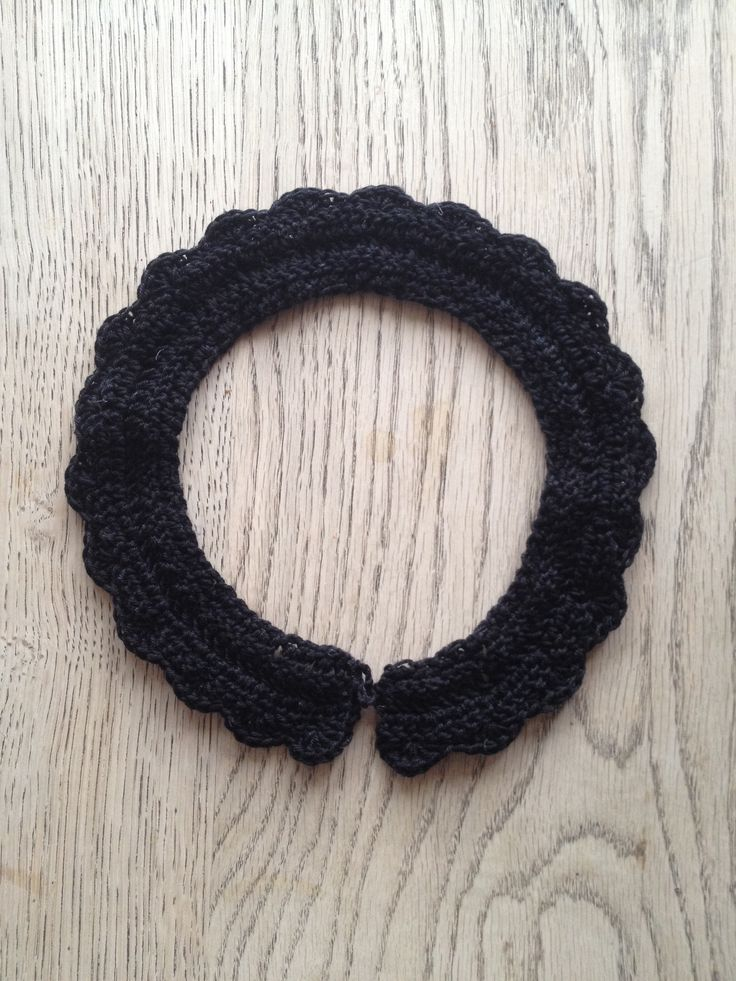 Crochet collar Hæklet krave