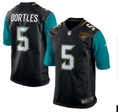 Nike Jaguars #5 Blake Bortles Black Alternate Men's Stitched NFL Game Jersey