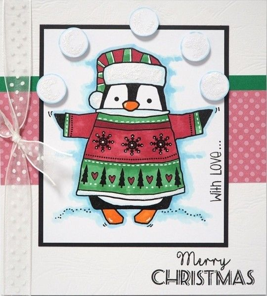 Woodware Clear Stamps - Wrapped Penguin