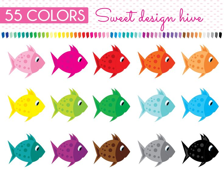 Fish Clipart, Fishes Clip Art, Planner Stickers, scrapbooking, Commercial Use, PL0057 by Sweetdesignhive on Etsy