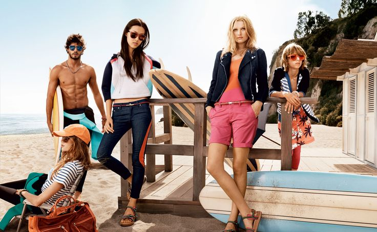 SPRING '14 WOMEN'S COLLECTION Go west this spring with a bold striped dress, a red-hot bikini beneath a tomboyish shirt, or the perfect jeans and silk blouse for trawling cafès along the pier.