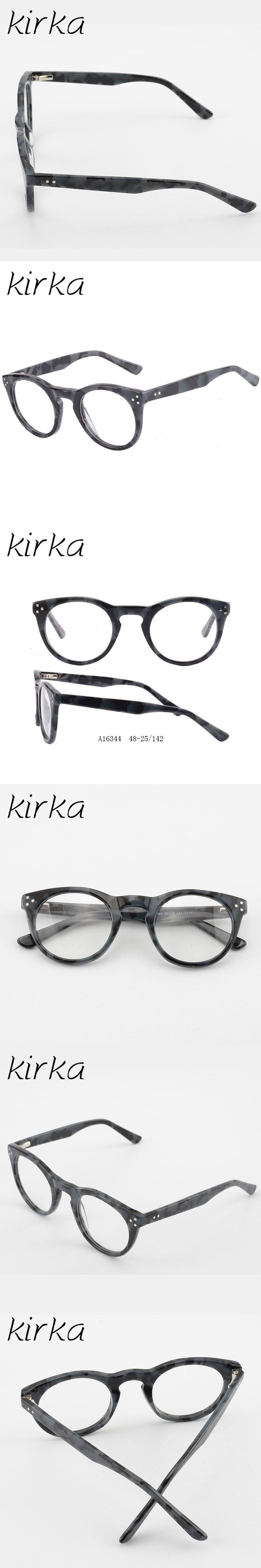Kirka 2017 Fashion Round Cute type with Rivet Women Men Clear Computer Optical Glasses Frame Prescription Eyewear Lunette De Vue