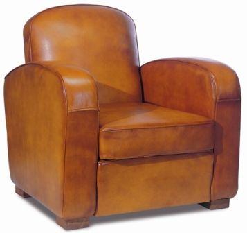 fauteuil club chatham en basane Art deco club chair in sheep leather