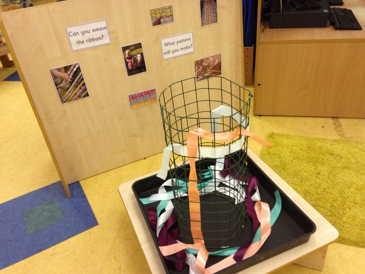 Weaving. Need ideas for changing this little area?! There is so much space in this nursery!!