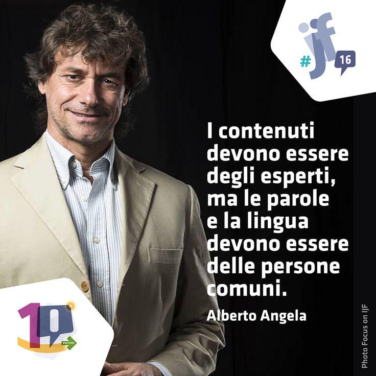 Alberto Angela al Festival Internazionale del Giornalismo di Perugia (2016)