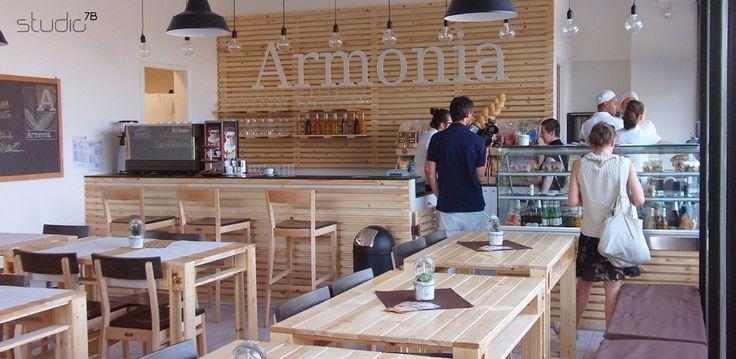 BIO STORE CAFE' ARMONIA - Brescia - Design: Giovanni Tomasini / Studio7B.