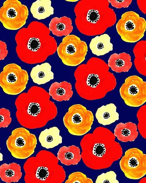 Anemone Flower. #illustration #pattern #lowers