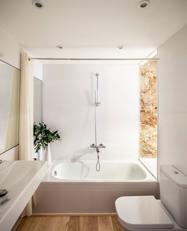 This bathroom includes all the essentials, and has an open area to the bedroom to allow the natural light to fill the space.