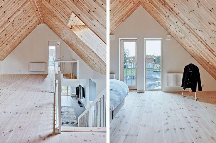 Största sovrummet med fransk balkong och bris från Stora Stamsjön. Dämmet 31 - Bjurfors