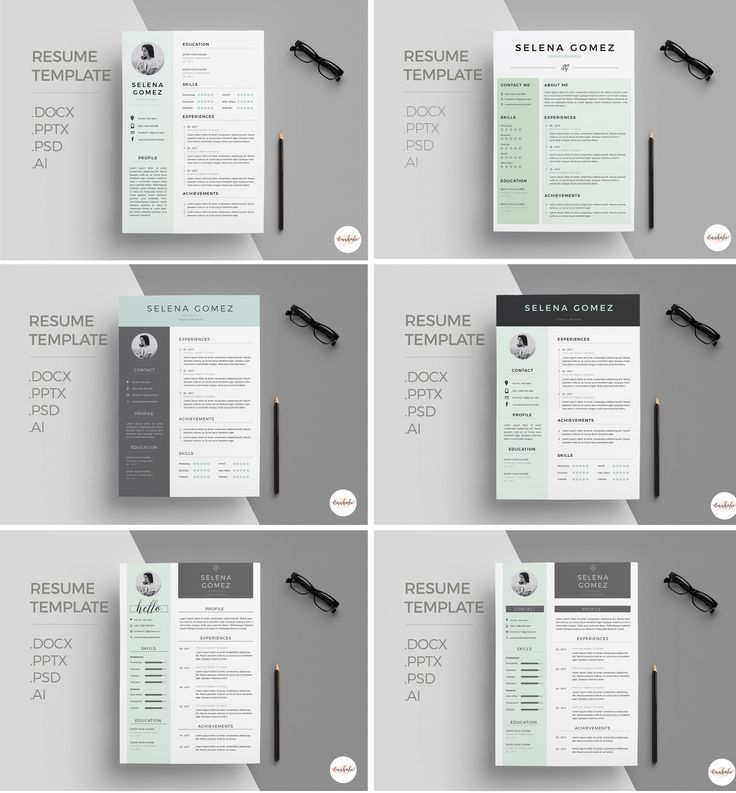 Professional CV and Cover Letter template /clean cv template/ Creative Cv / Modern Cv / Green themes CV / Instant Download / 1 page resume / EmaholicTemplates / Etsy